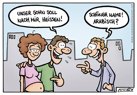 "Cartoon ""Nach mir"""