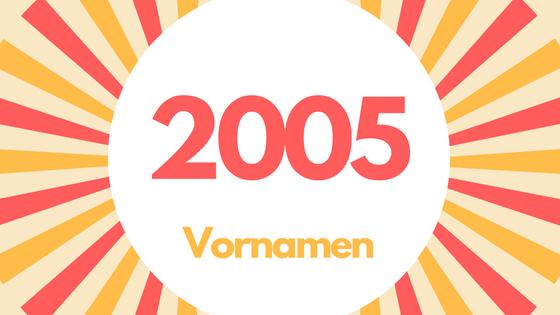 Vornamen 2005