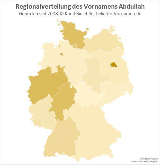 Am beliebtesten ist der Name Abdullah in Berlin.