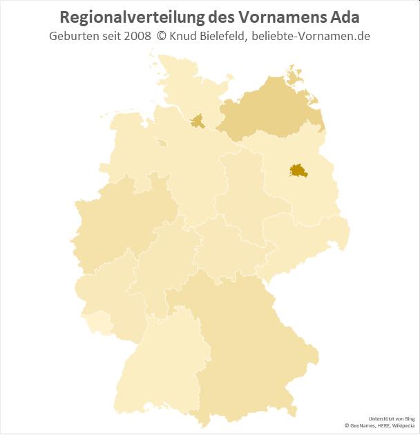 In Berlin ist der Name Ada besonders beliebt.