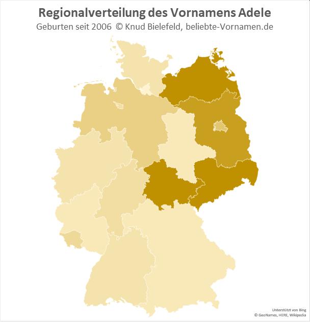 Besonders beliebt ist der Name Adele in Ostdeutschland.