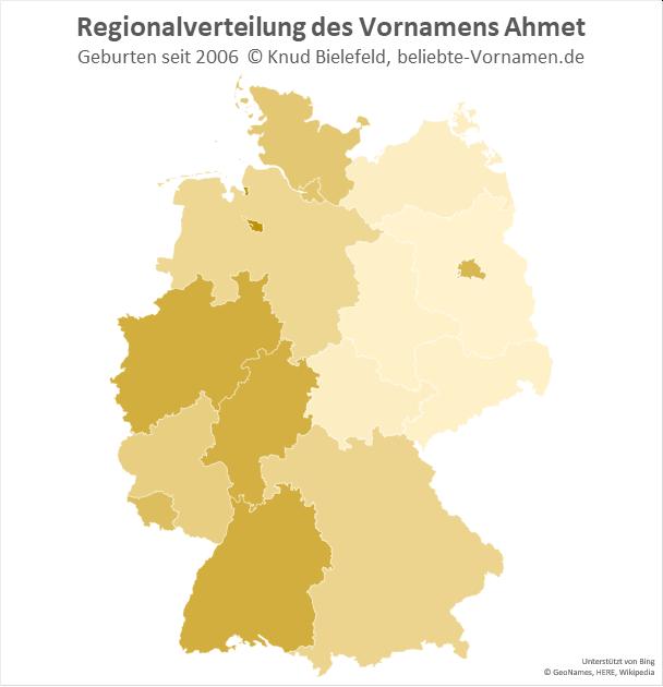 Am beliebtesten ist der Name Ahmet in Bremen.