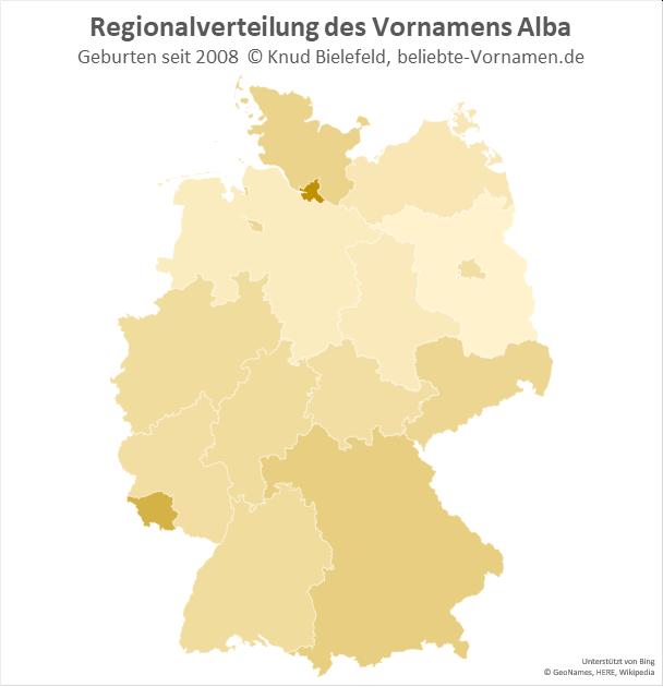 In Hamburg ist der Name Alba besonders beliebt.