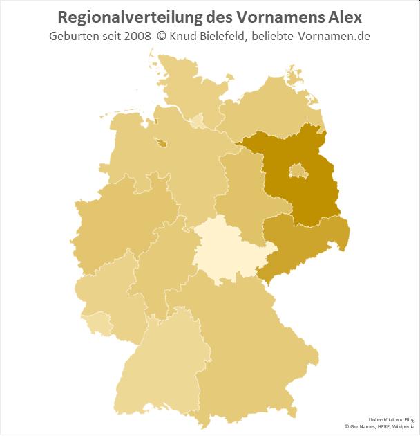 In Brandenburg ist der Name Alex besonders beliebt.