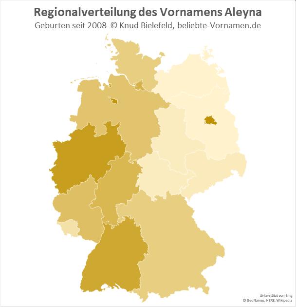 Am beliebtesten ist der Name Aleyna in Berlin.