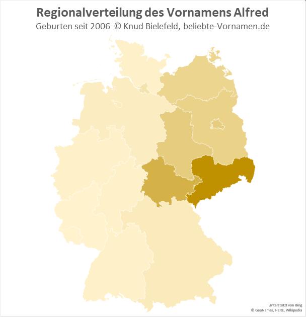 In Sachsen ist der Name Alfred besonders beliebt.