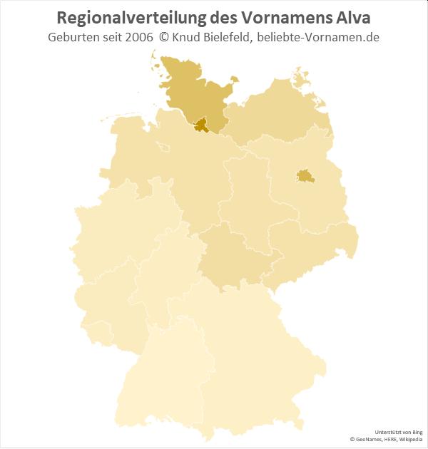 In Hamburg ist der Name Alva besonders beliebt.