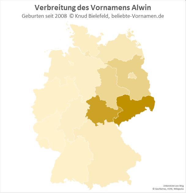 Am beliebtesten ist der Name Alwin in Sachsen und in Thüringen.