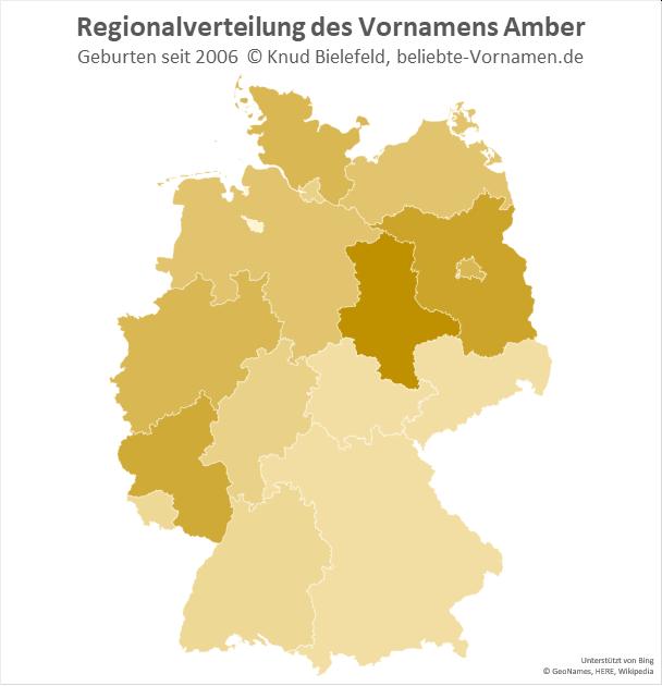 In Sachsen-Anhalt ist der Name Amber besonders populär.