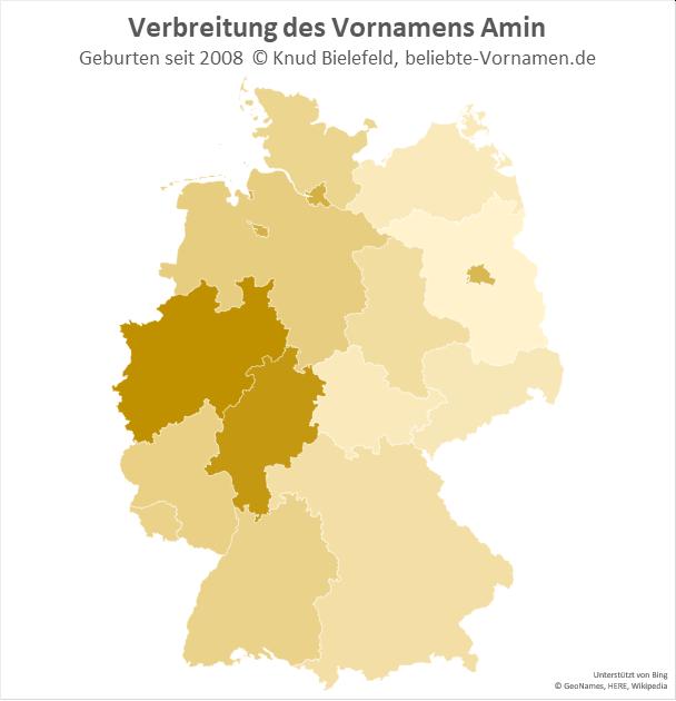 In Nordrhein-Westfalen ist der Name Amin besonders beliebt.