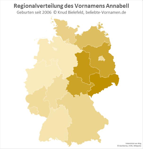 In Sachsen ist der Name Annabell besonders beliebt.