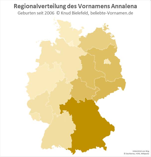 In Bayern ist der Name Annalena besonders beliebt.
