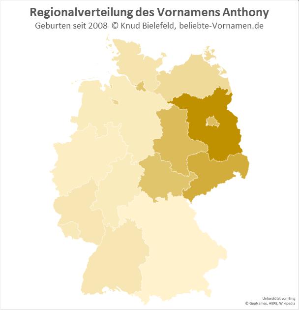 In Brandenburg ist der Name Anthony besonders beliebt.