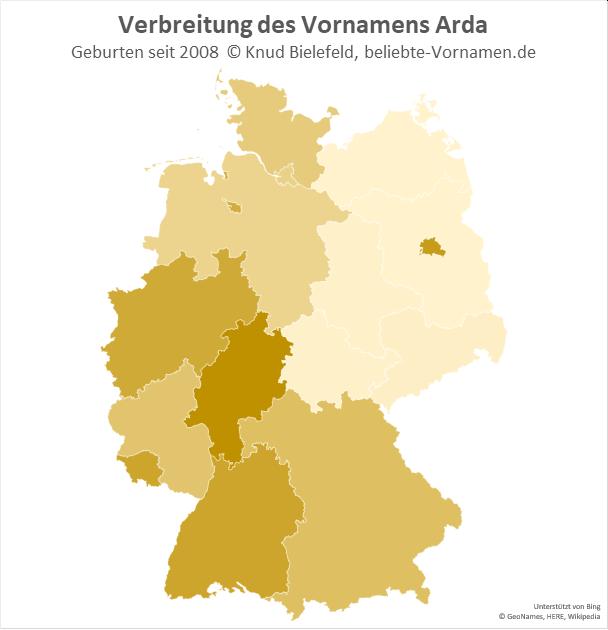 In Hessen ist der Name Arda besonders beliebt.