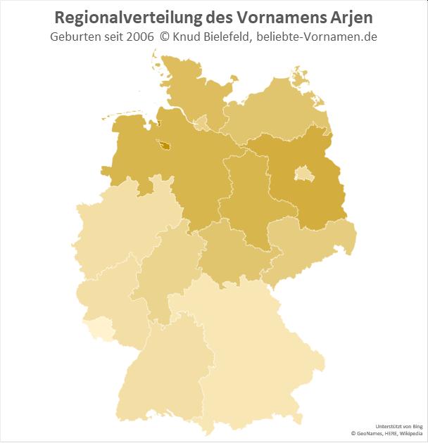 In Bremen ist der Name Arjen besonders beliebt.