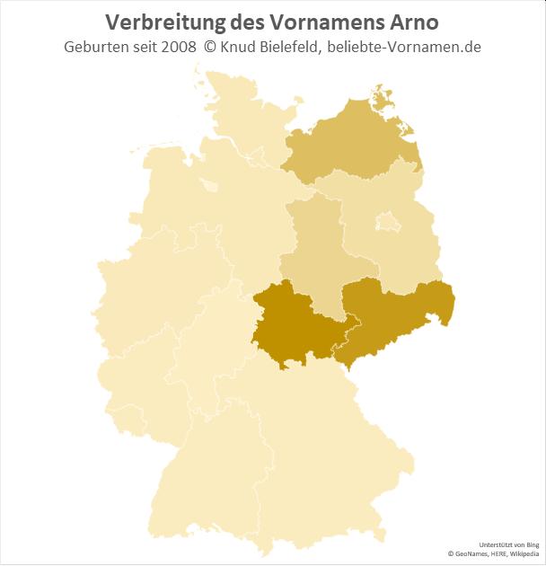 In Thüringen ist der Name Arno besonders beliebt.