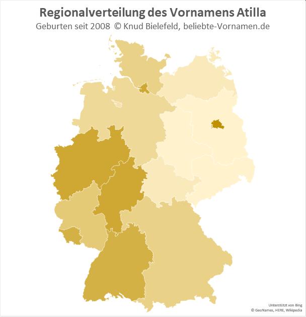 In Berlin ist der Name Atilla besonders beliebt.
