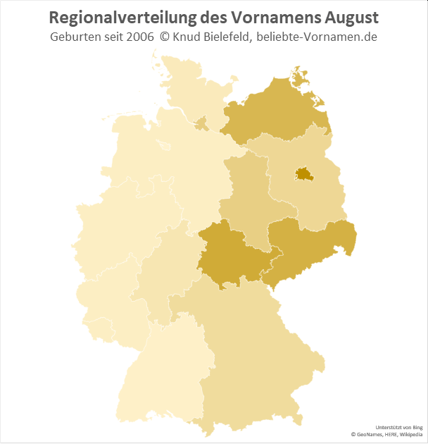 Besonders beliebt ist der Name August in Berlin.