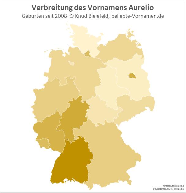 In Baden-Württemberg ist der Name Aurelio besonders beliebt.