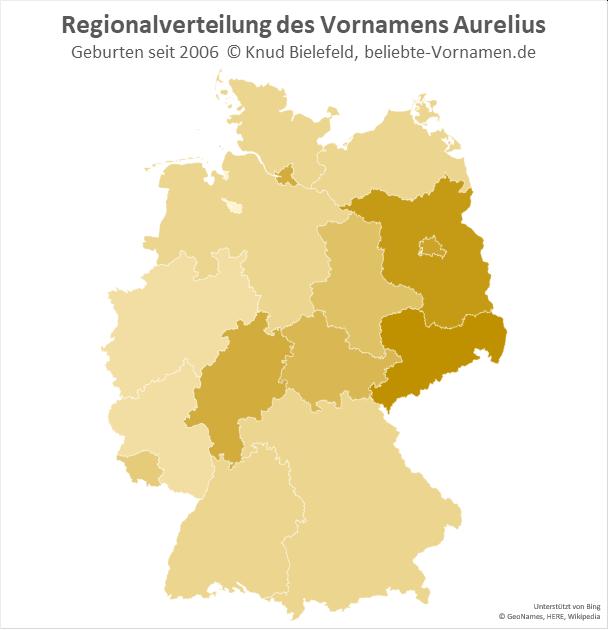 Am beliebtesten ist der Name Aurelius in Sachsen.
