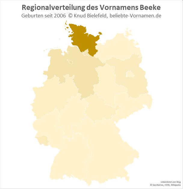 In Schleswig-Holstein ist der Name Beeke besonders beliebt.