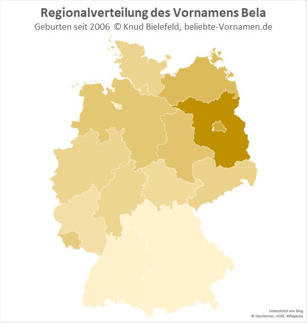 Der Name Bela ist in Brandenburg besonders beliebt.