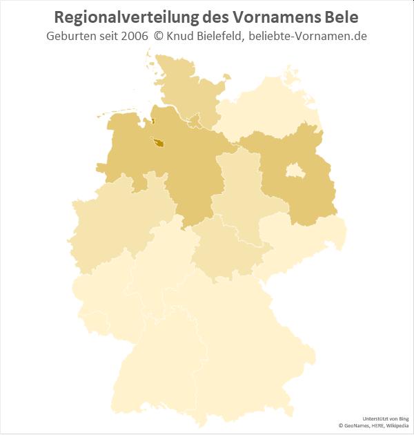 In Bremen ist der Name Bele besonders beliebt.