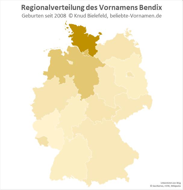 In Schleswig-Holstein ist der Name Bendix besonders beliebt.