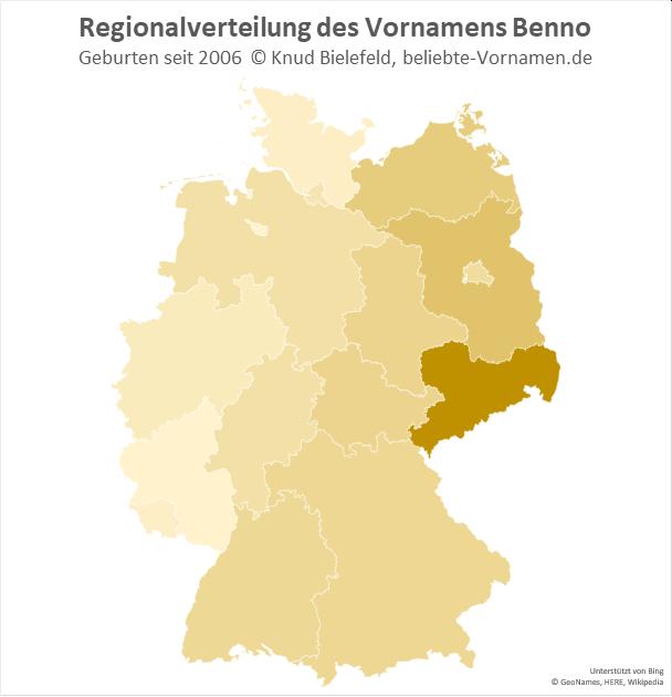 In Sachsen ist der Name Benno besonders beliebt.