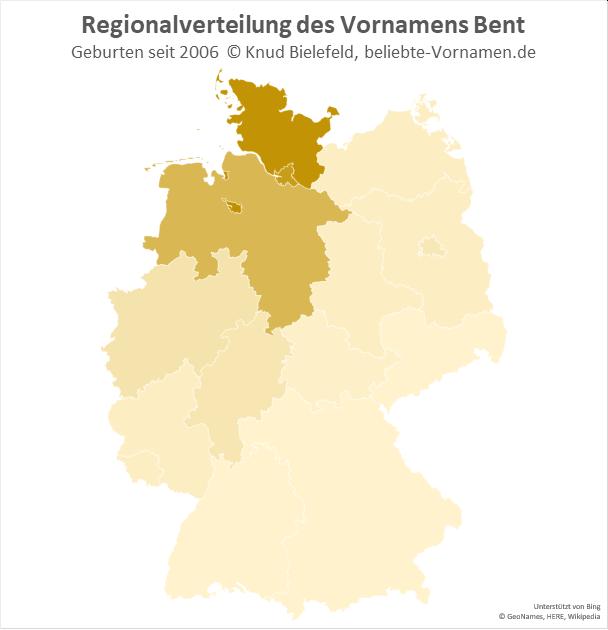 In Schleswig-Holstein ist der Name Bent besonders beliebt.