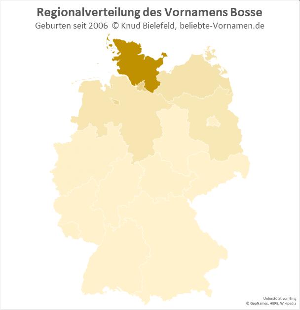 Der Name Bosse ist in Schleswig-Holstein besonders beliebt.