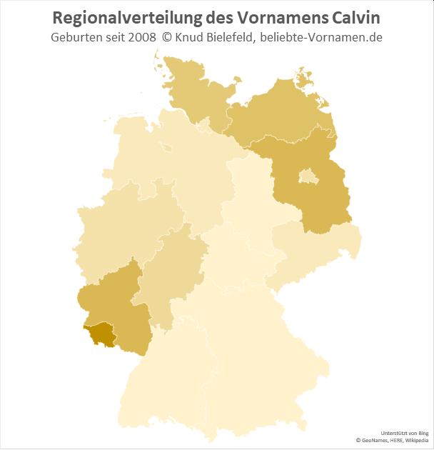 Im Saarland ist der Name Calvin besonders beliebt.