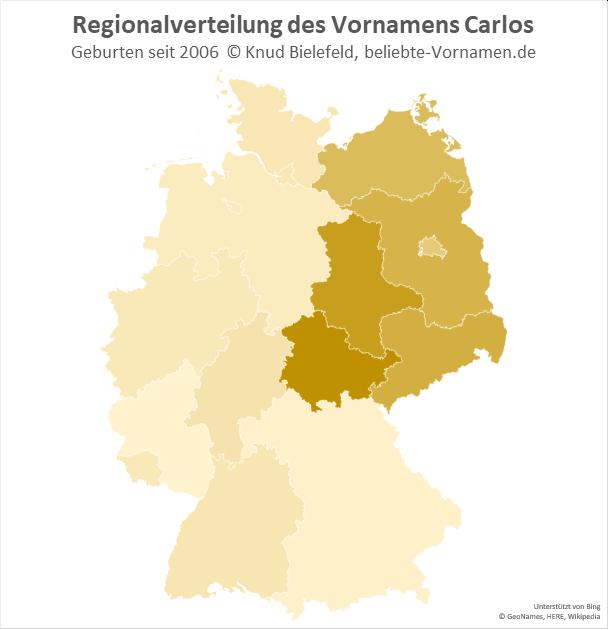 In Thüringen ist der Name Carlos besonders beliebt.