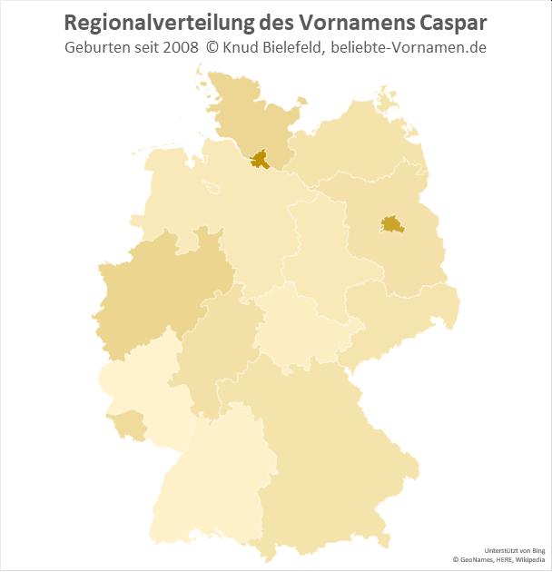 In Hamburg ist der Name Caspar besonders beliebt.