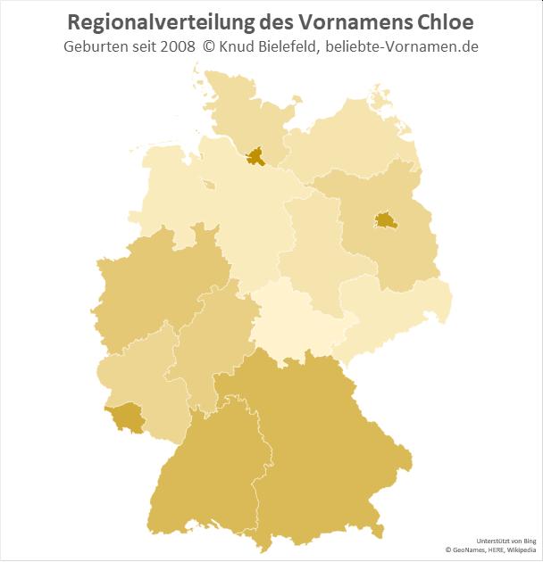 In Hamburg und Berlin ist der Name Chloe besonders beliebt.