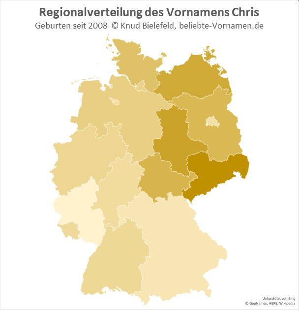 In Sachsen ist der Name Chris besonders beliebt.