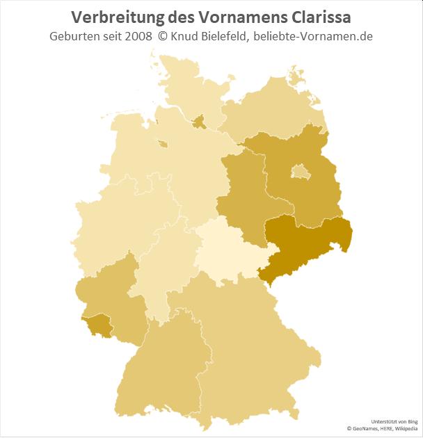 In Sachsen ist der Name Clarissa besonders beliebt.