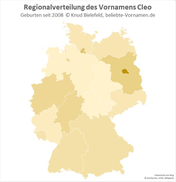 In Berlin ist der Name Cleo besonders beliebt.