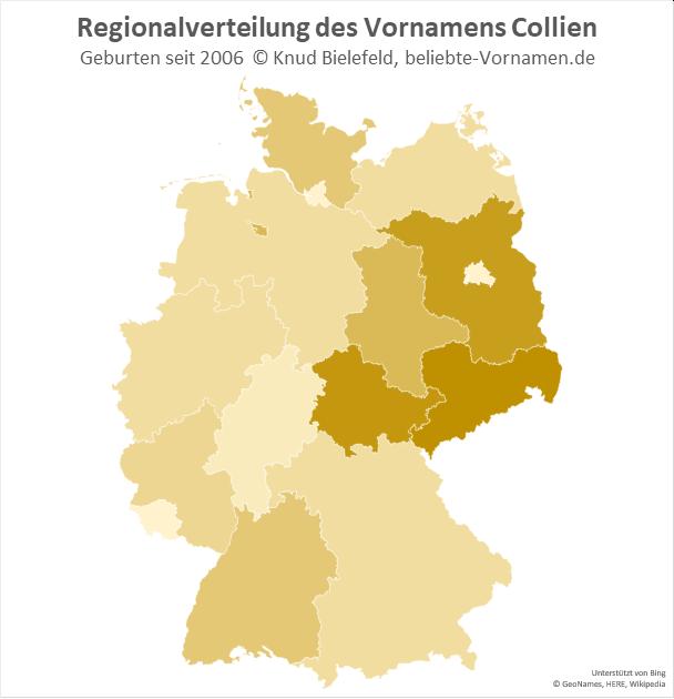 In Sachsen und Thüringen ist der Name Collien besonders beliebt.