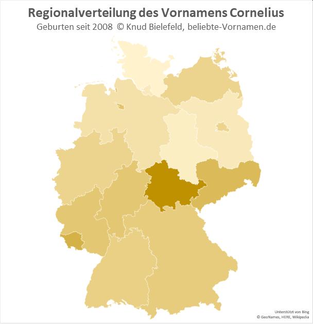 In Thüringen ist der Name Cornelius besonders beliebt.