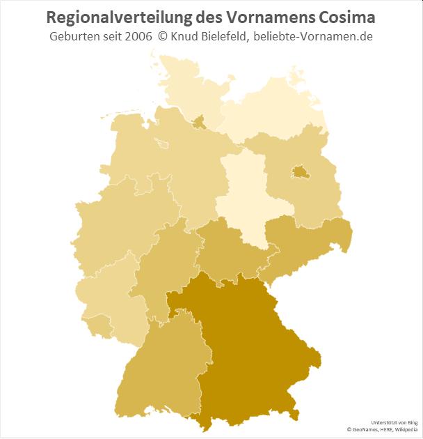 In Bayern ist der Name Cosima besonders beliebt.