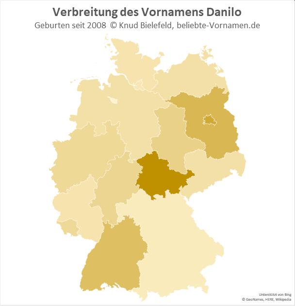 Besonders beliebt ist der Name Danilo in Thüringen.