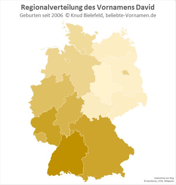 In Baden-Württemberg ist der Name David besonders beliebt.