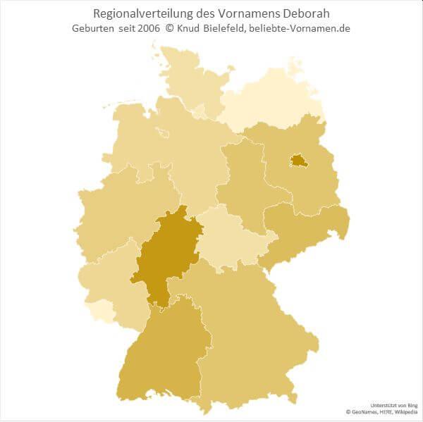 In Hessen besonders beliebt: Deborah