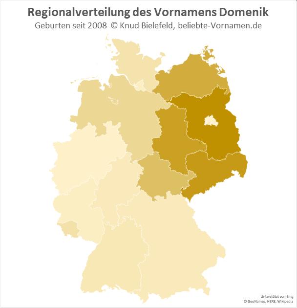In Brandenburg ist der Name Domenik besonders beliebt.