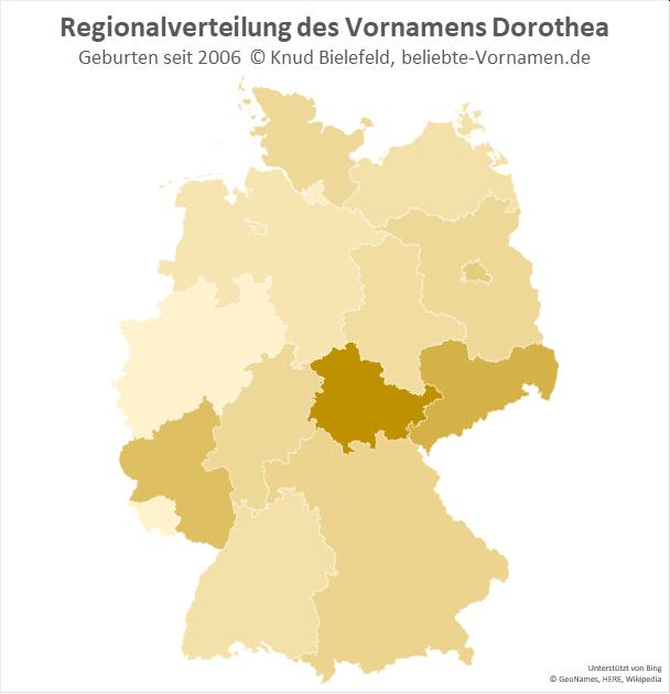 In Thüringen ist der Name Thüringen am beliebtesten.