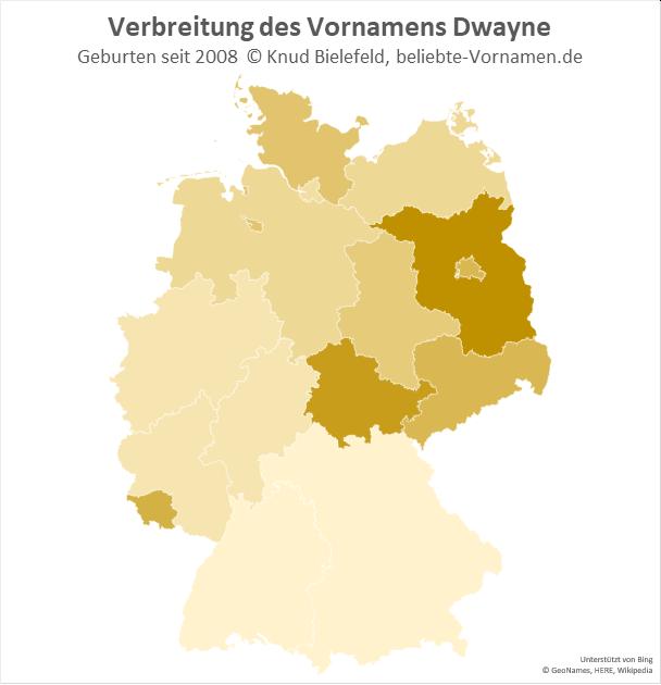 Besonders beliebt ist der Name Dwayne in Brandenburg.