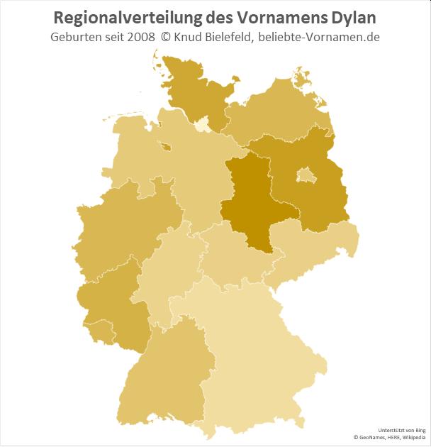 Besonders beliebt ist der Name Dylan in Sachsen-Anhalt.