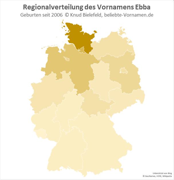 In Schleswig-Holstein ist der Name Ebba besonders beliebt.