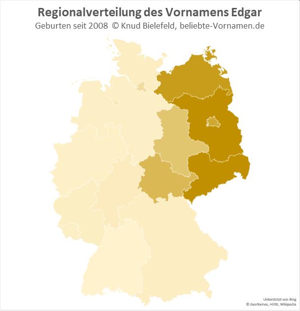 In Brandenburg und Sachsen ist der Name Edgar besonders beliebt.